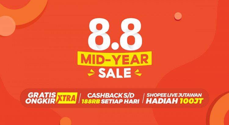 Kampanye 8.8 Mid Year Sale, Shopee Tebar Promo Menarik