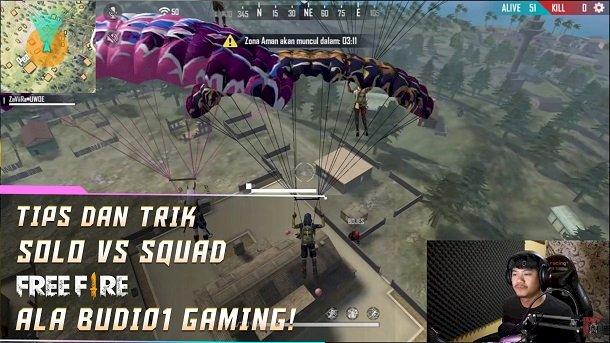 Ini Dia Tips dan Trik Main Free Fire Solo vs Squad Ala BUDI01 GAMING!