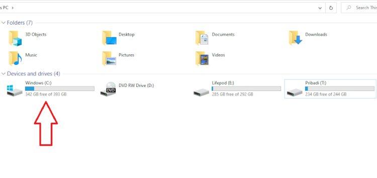 Sejarah Partisi Windows Dimulai dari Huruf C