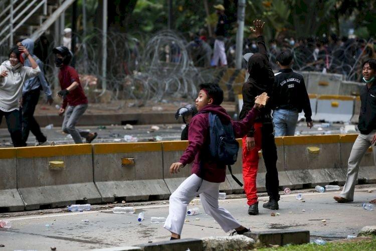 MCB di Jakarta Pusat Kembali Jadi Korban Unjuk Rasa Tolak Omnibus Law