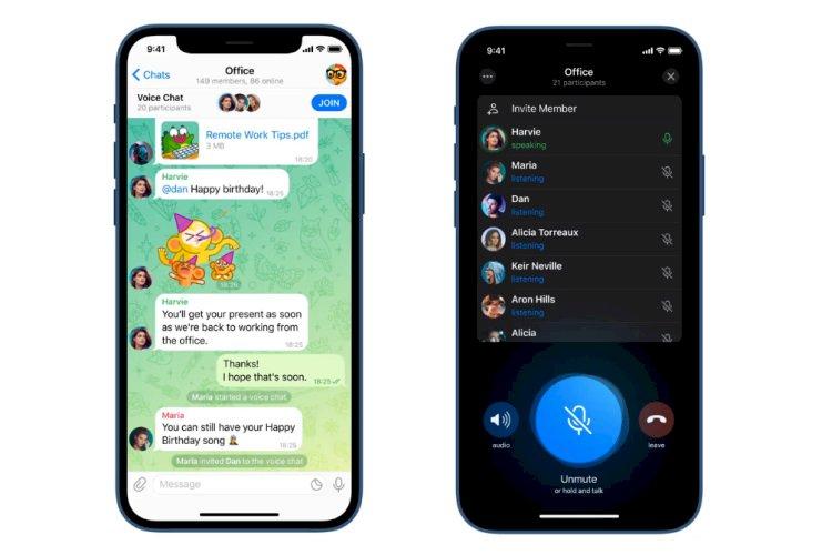 Fitur Terbaru Telegram: Voice Chat Layaknya Discord
